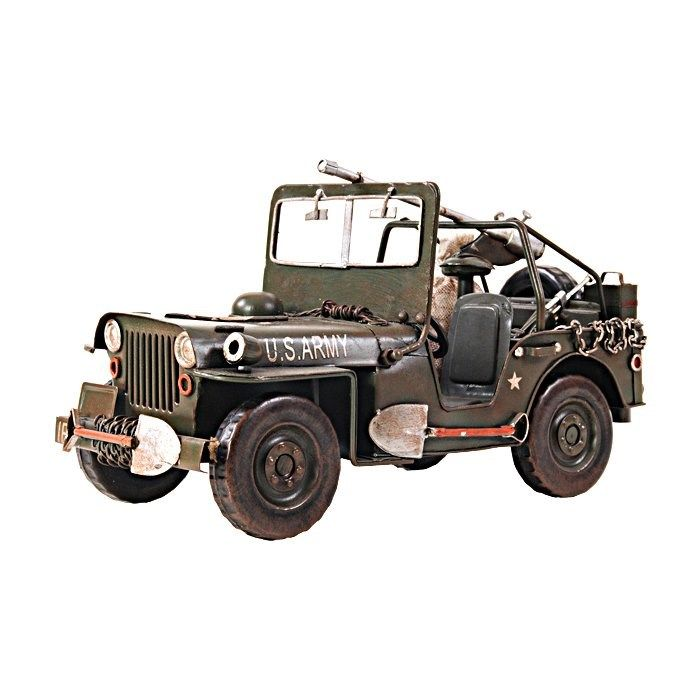 Old Modern Handicrafts Aj030 1940 1 12 Willys Overland Jeep In Green Military Jeep Jeep Automotive Decor
