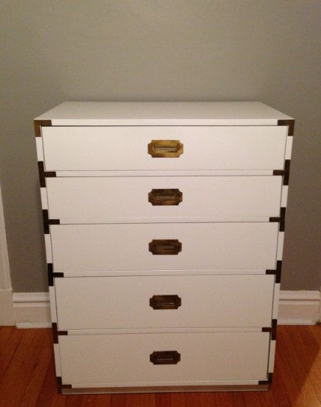 High Gloss White Campaign Dresser By Dixie 5 Drawer Highboy Chest Campaign Dresser High Gloss White Grey Dresser