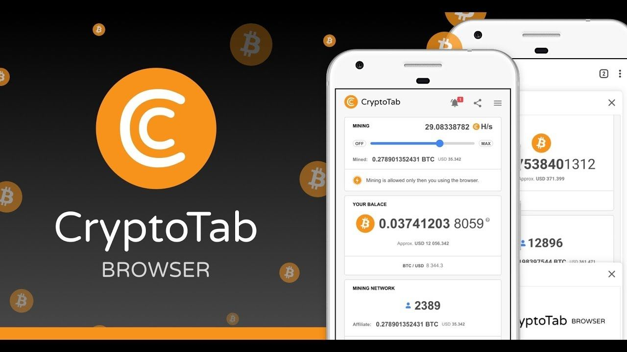 CryptoTab Browser (Miner) Mining Using Your Browser