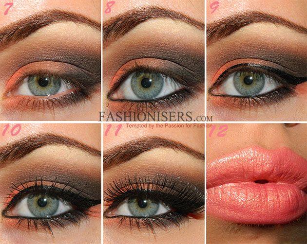 Orange Brown Smokey Eye Makeup Tutorial With Images Brown