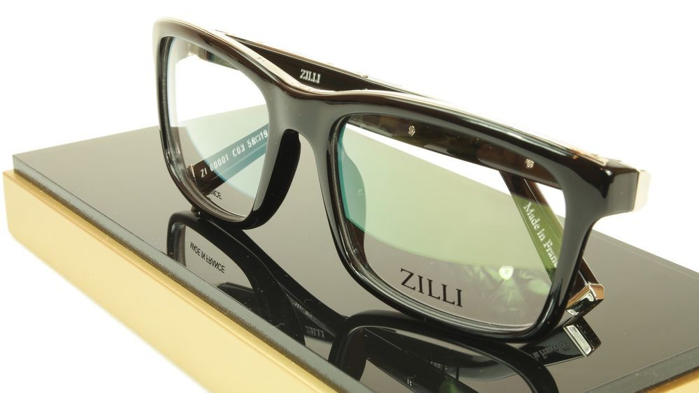 d0b16856528 ZILLI Eyeglasses Frame Acetate Leather Titanium France Hand Made ZI 60001  C03  ZILLI