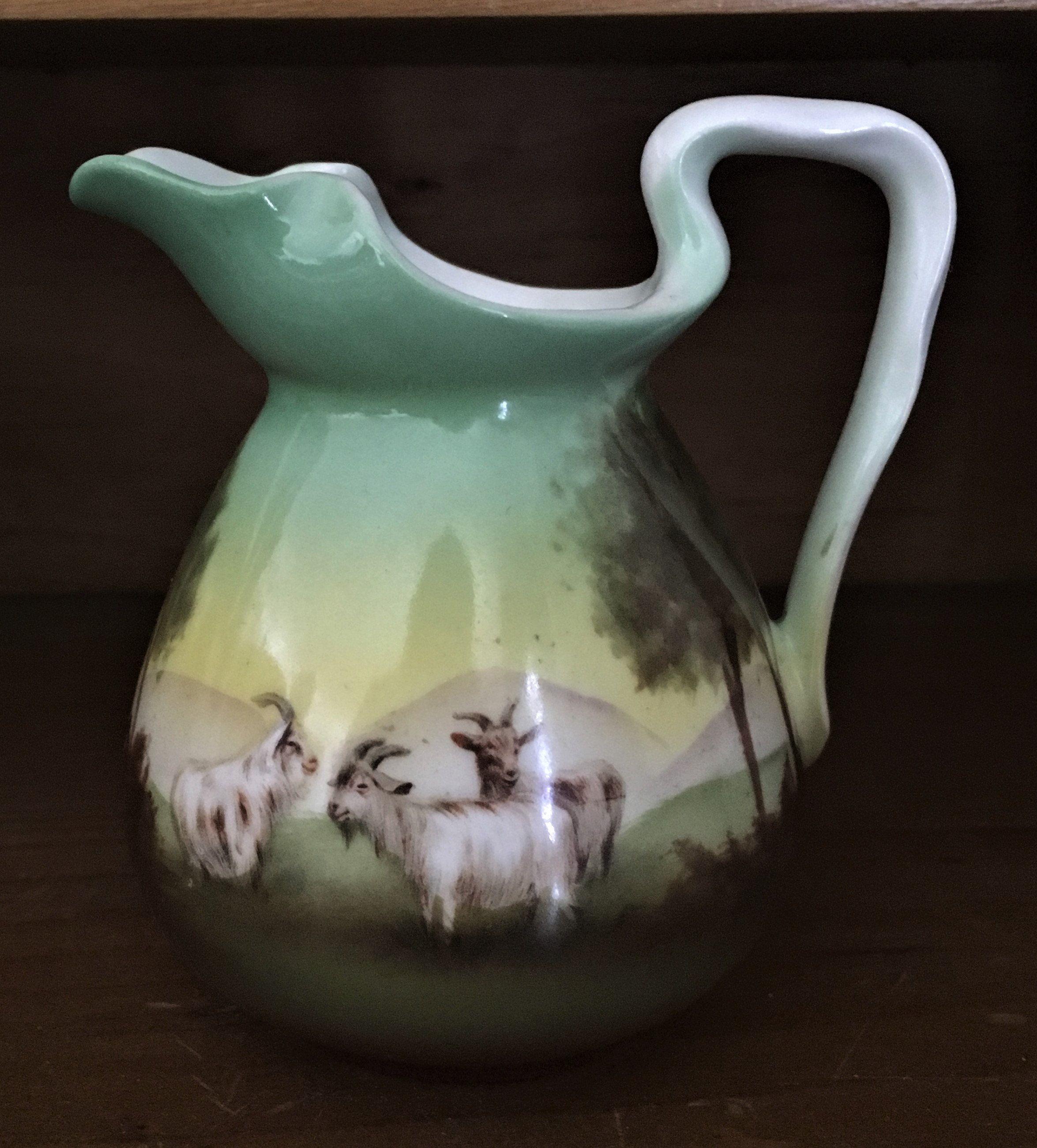 Antique bone china goat creamer royal bayreuth bavaria