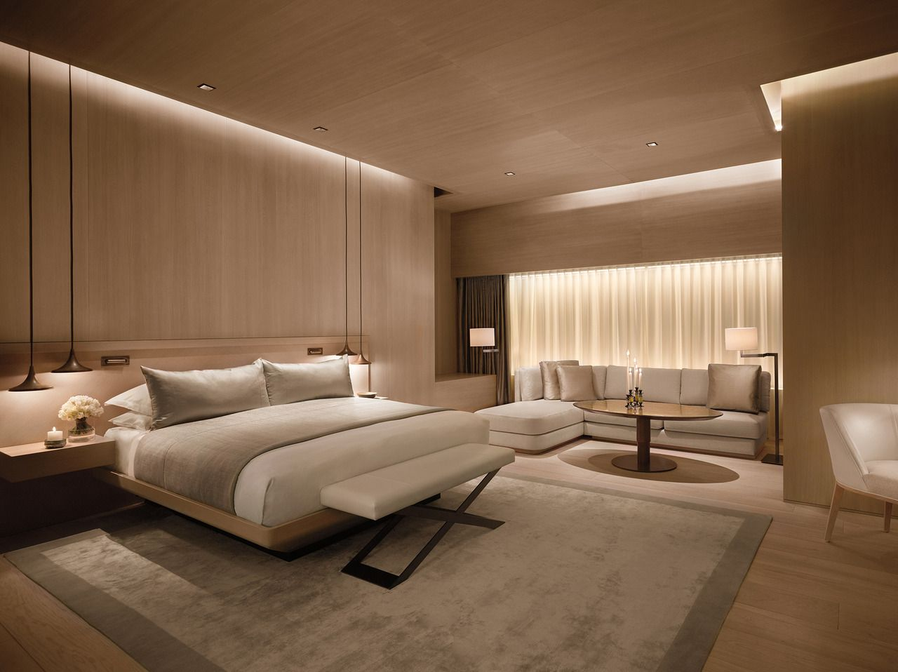 Master bedroom false ceiling  The London EDITION  Humaidus Room  Pinterest  Galleries Bedrooms