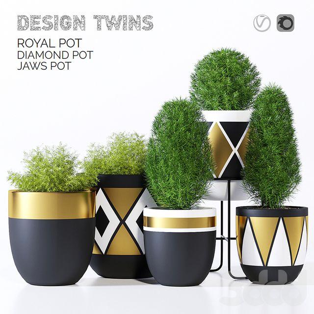 Designtwins pot two | модели с 3ддд | Садовые горшки ...