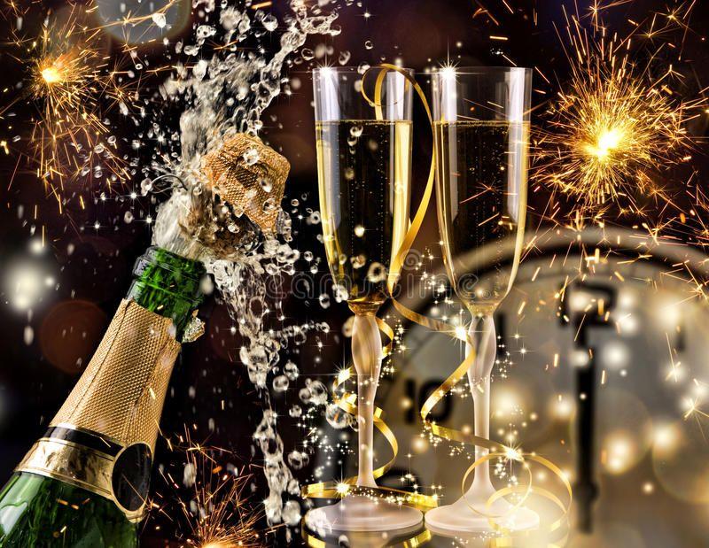 New Year Celebration with champagne. New Year Celebration