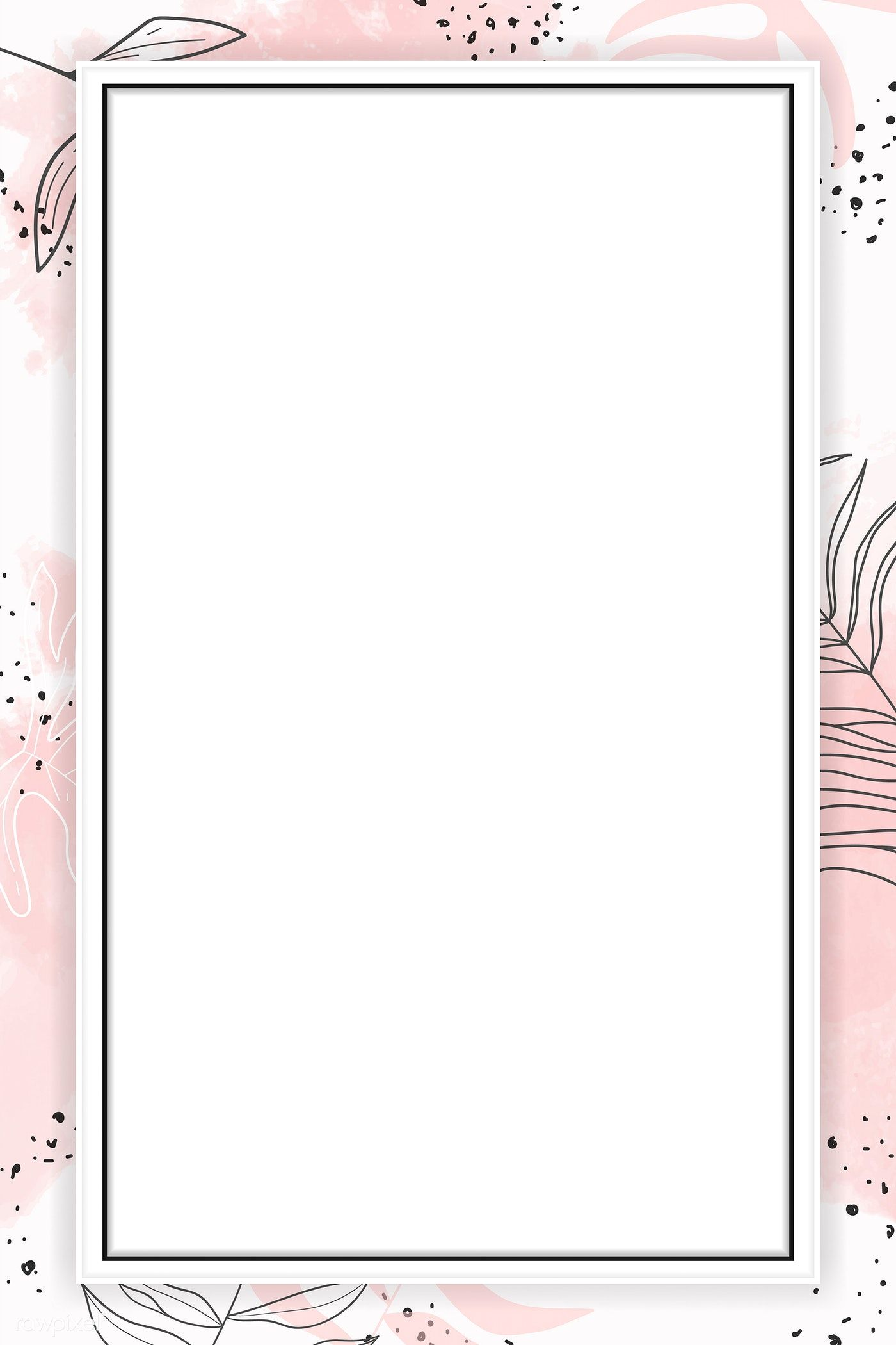 Pink Rectangle Watercolor Frame Vector Premium Image By Rawpixel Com Aum Instagram Frame Template Powerpoint Background Design Instagram Frame