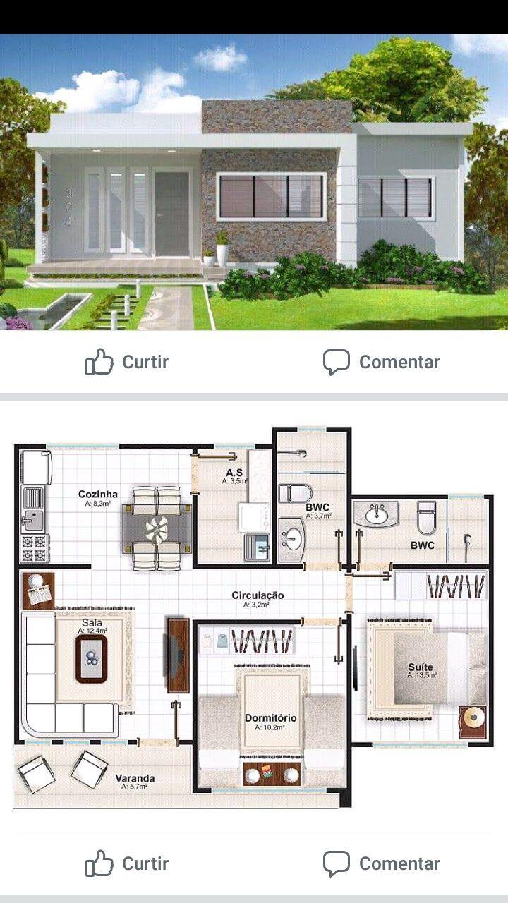 Rumah Kecil Denah Rumah Arsitektur Rumah Indah