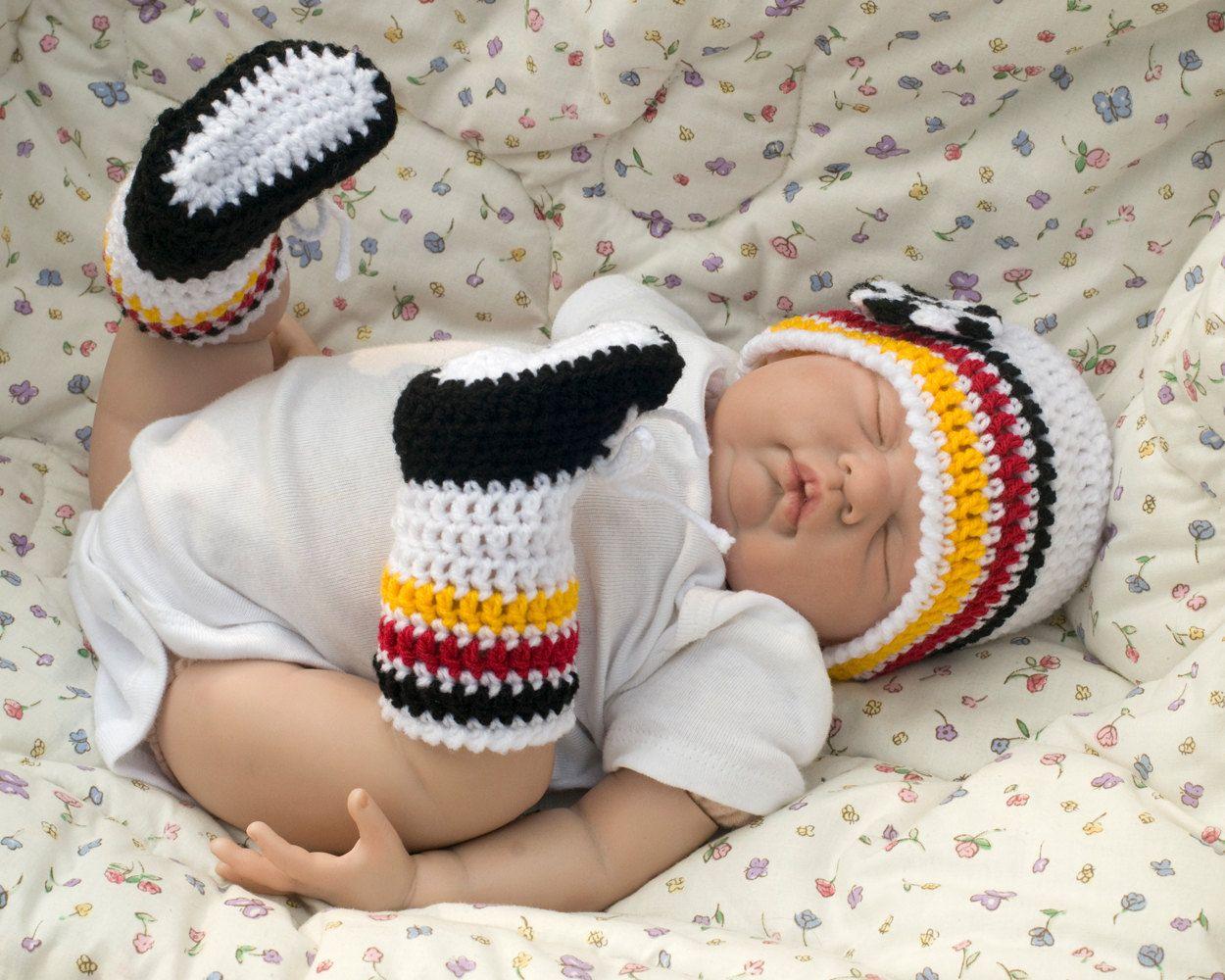 Germany baby soccer world cup crochet soccer leg warmers
