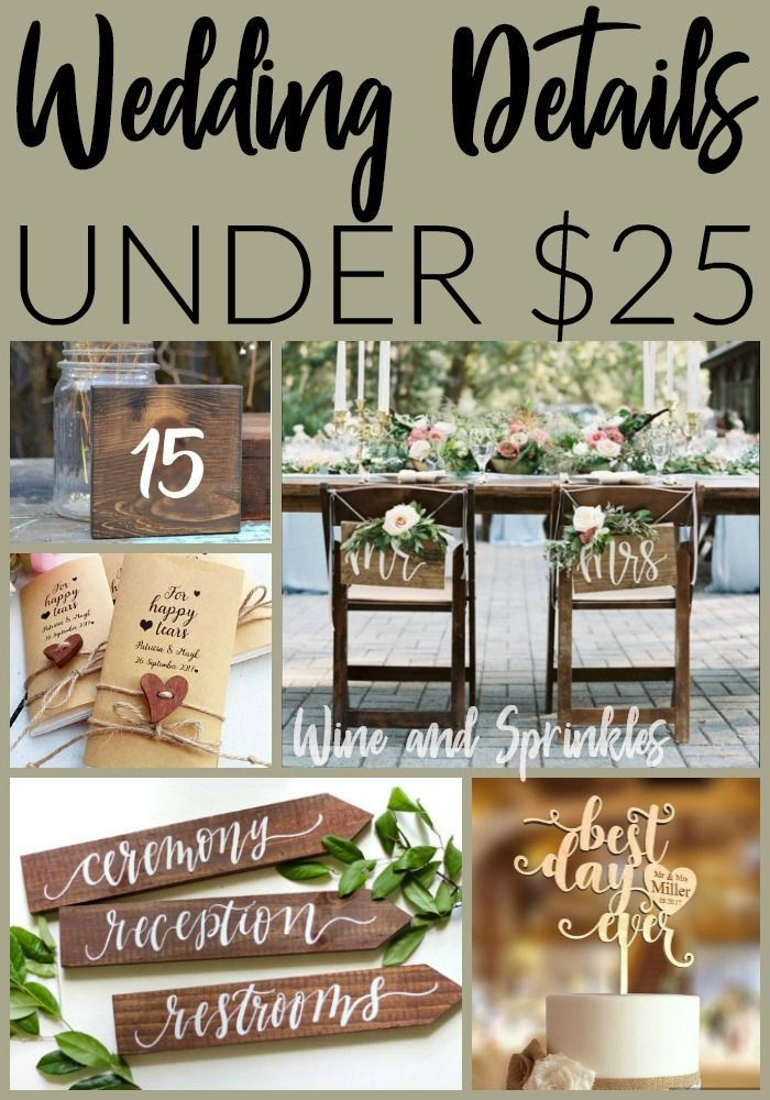 30 Rustic Wedding Details for under $25 — Wine & Sprinkles