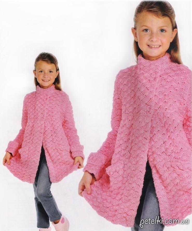 теплое пальто крючком для девочки схемы выкройка Bebekçocuk