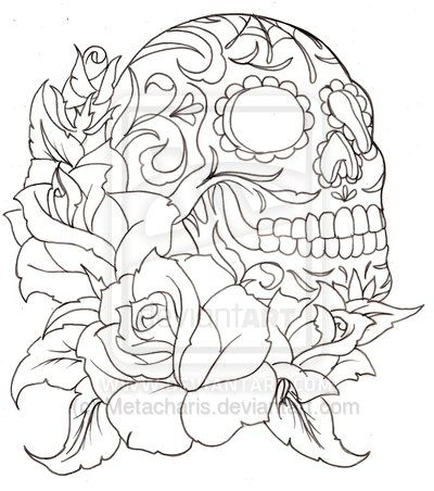 sugar skulls and roses coloring pages printable coloring pages sheets for kids get the latest free sugar skulls and roses coloring pages images - Sugar Skull Tattoo Coloring Pages