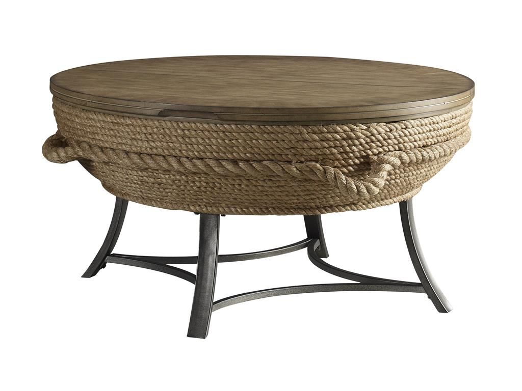 Stein World Living Room Crescent Key Lift-Top Cocktail Table