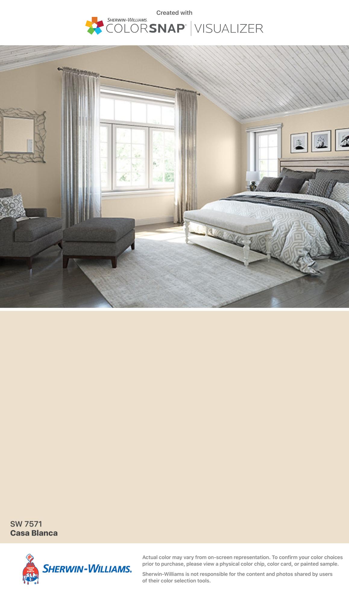 Casa Blanca SW 7571 - White & Pastel Paint Color - Sherwin-Williams