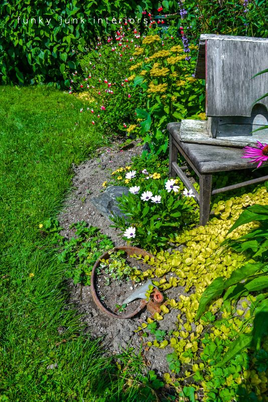 How to edge flowerbeds like a pro! via   Funky junk, Garden edging ...