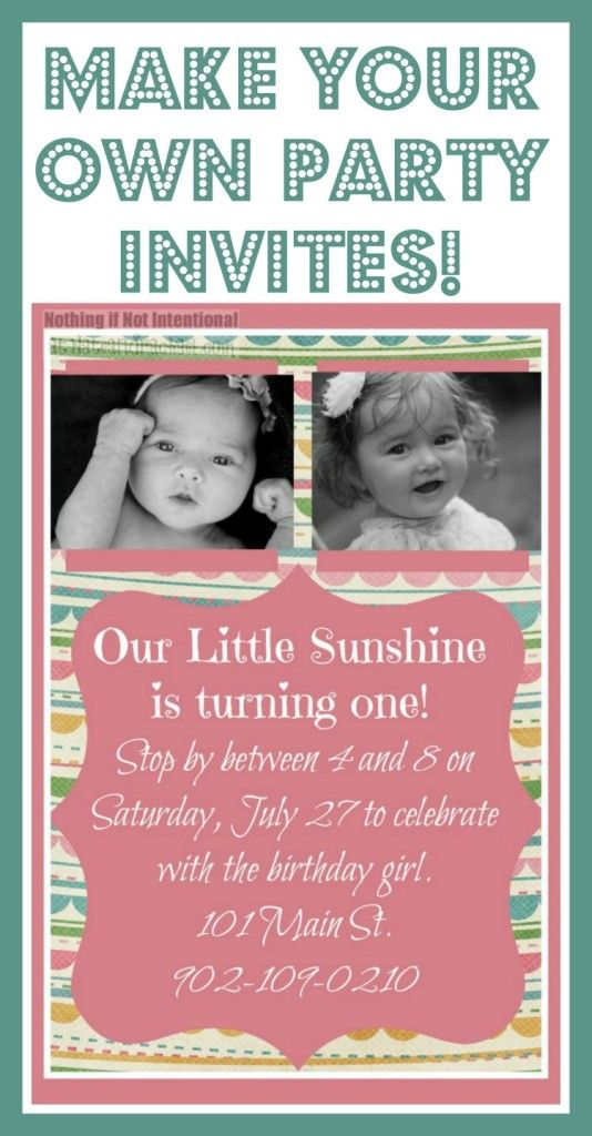 Make Your Own Invitations--so cute, easy, and frugal! | Frugal ...