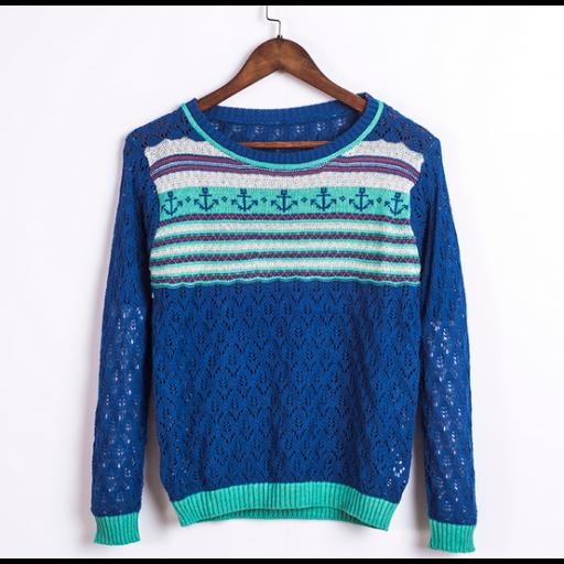 بلوزة نسائي شتوي بأكمام طويلة بلوزة كحلي اللون متوفرة ايضا بلوني اخضر وردي البلوزة من الصوف الخفيف بفتحة رأس دا Pullover Fashion Sweaters