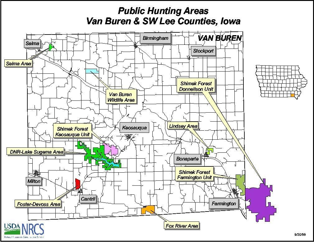 iowa public hunting map Map Of Public Hunting Areas For Van Buren And Sw Lee Counties iowa public hunting map