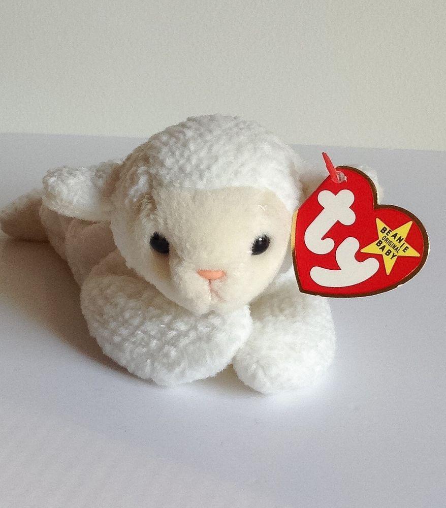 9a8981ca212 Ty 1996 Fleece Lamb Beanie Babies Baby Retired Sheep Tag Errors PVC 4125  Ty   Beanie