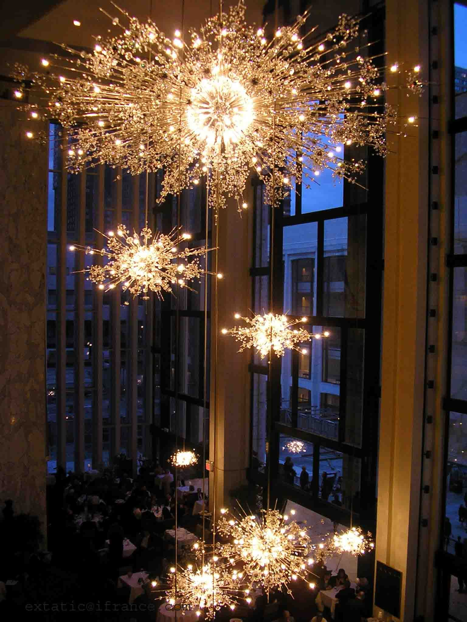 Take me to The Met to see La Boheme and these chandeliers just