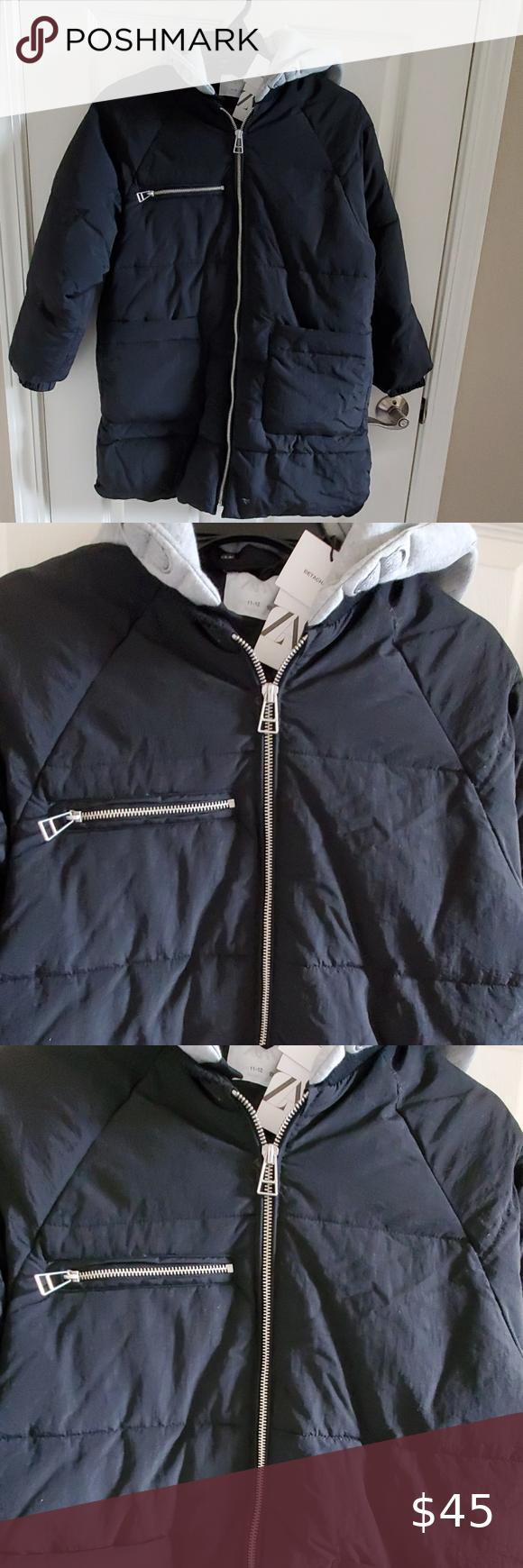 Zara Girls Long Puffer Jacket Long Puffer Jacket Black Puffer Jacket Zara Girl [ 1740 x 580 Pixel ]
