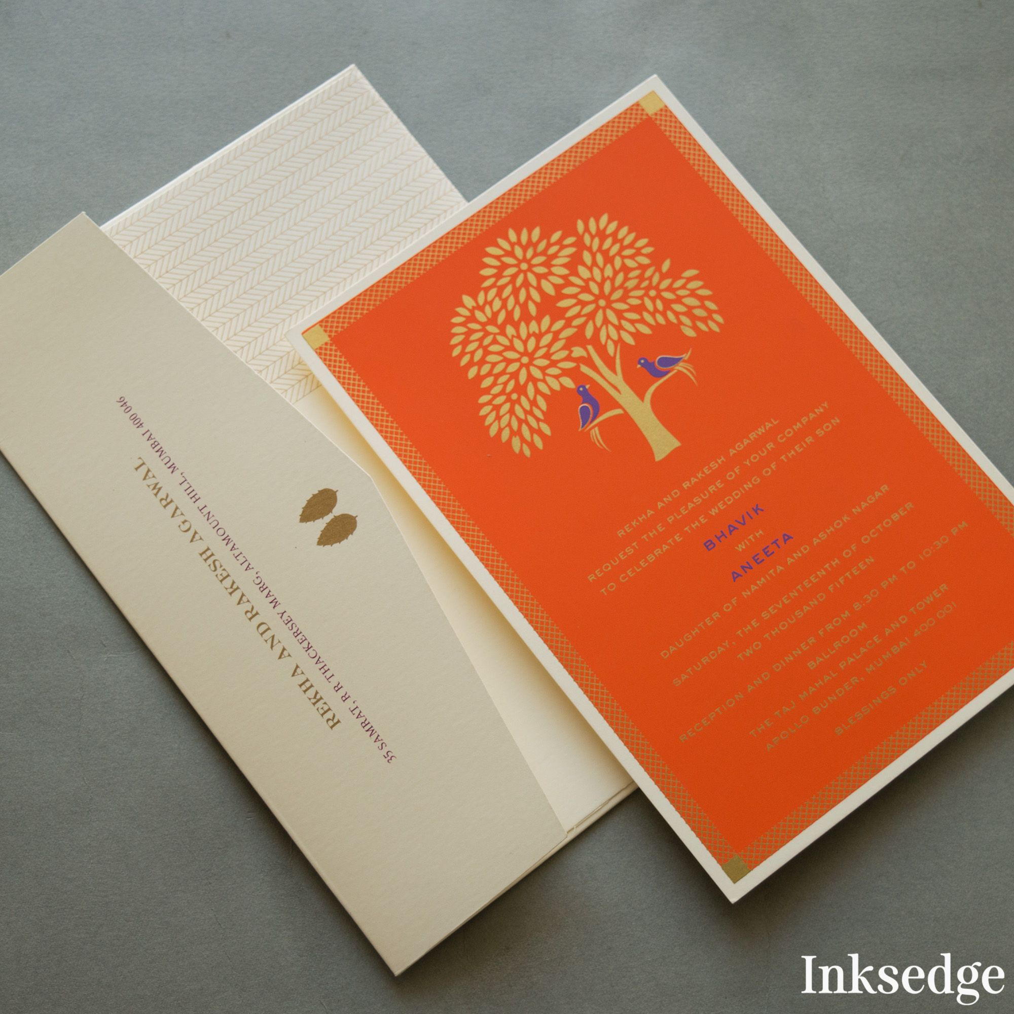 Saffron #WeddingInvite #WeddingCard #IndianWeddingCard ...