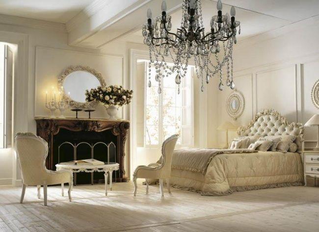 Kronleuchter Für Schlafzimmer ~ Wohnideen für schlafzimmer luxus creme kristall kronleuchter