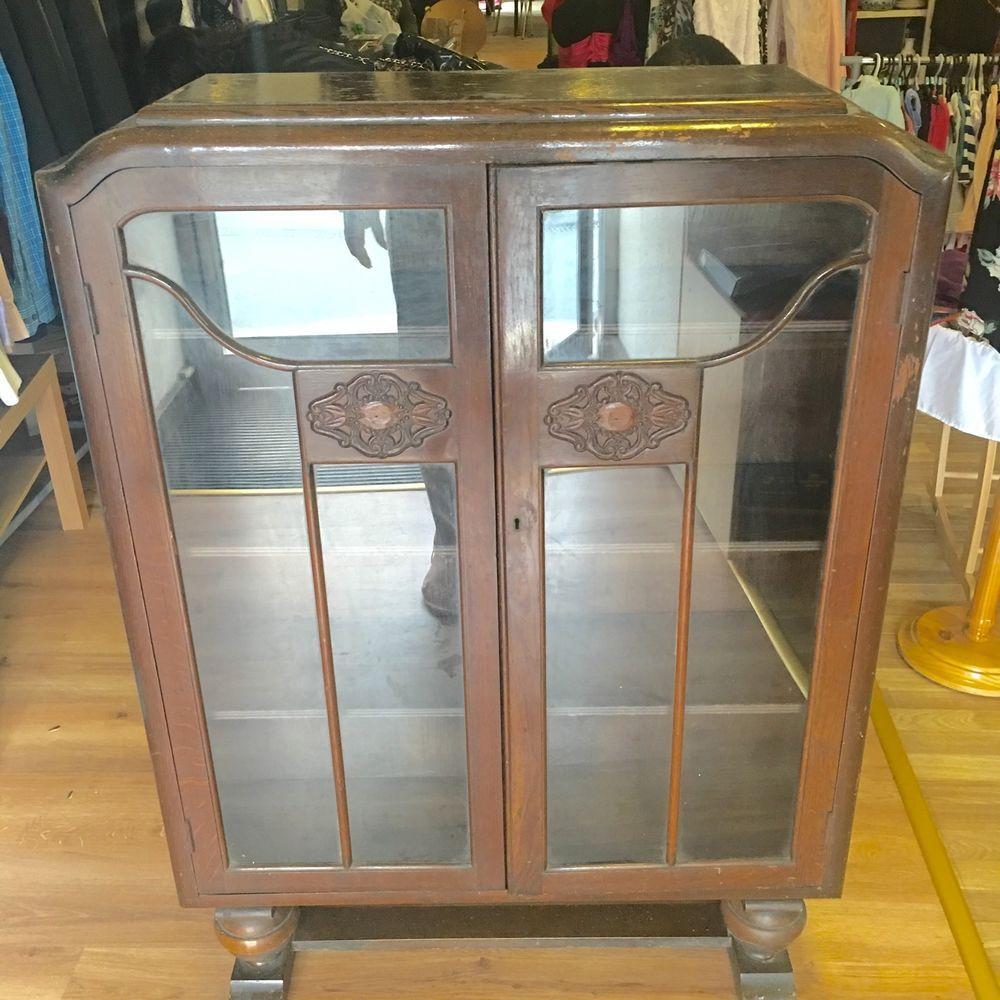 Antique Vintage Display Cabinet - C. W.S Enfiel   eBay