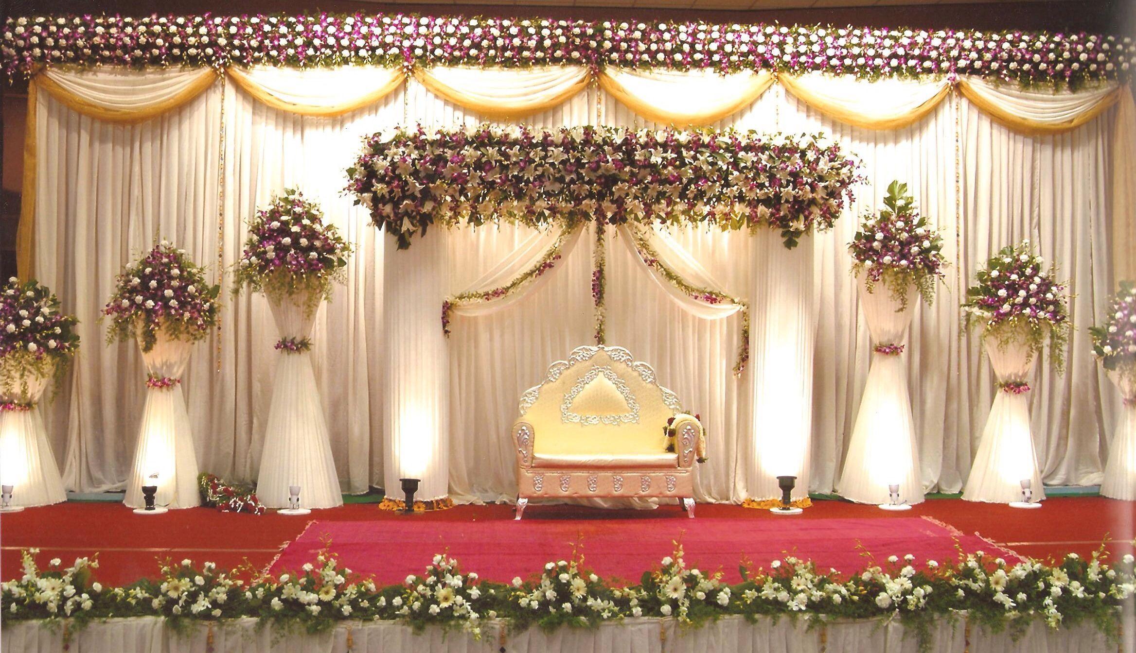 stage flower decoration photos,