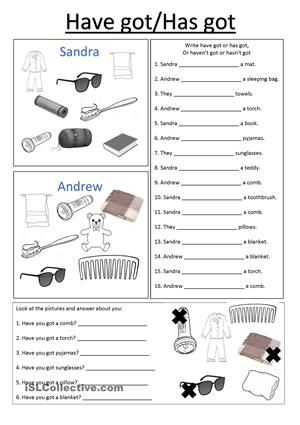 free esl efl printable worksheets and handouts have has chart and worksheets english. Black Bedroom Furniture Sets. Home Design Ideas