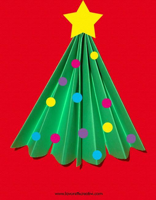 Alberelli Di Natale Lavoretti.Lavoretti Di Natale Albero Di Natale Natale Artigianato Kids Crafts Natale