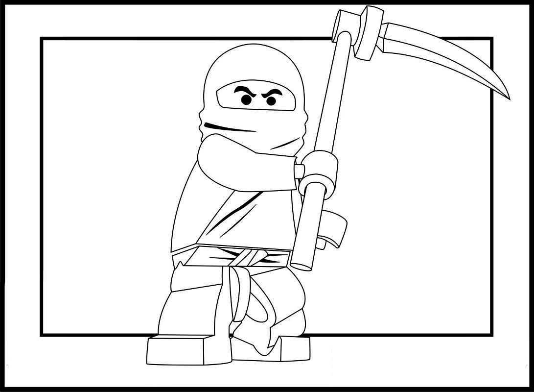 Ninja coloring games online - Lego Ninja Go Coloring Pages 14