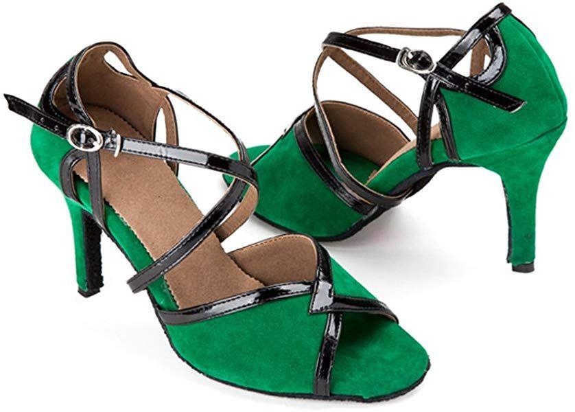 f65e91dee95e1 Amazon.com | BCLN Womens Open Toe Sandals Latin Salsa Tango Heels ...