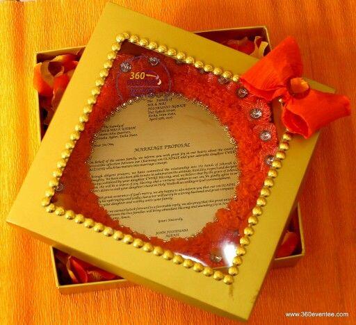 Engagement Letter Boxed  Eru Iyawo Nigeria Yoruba Traditional