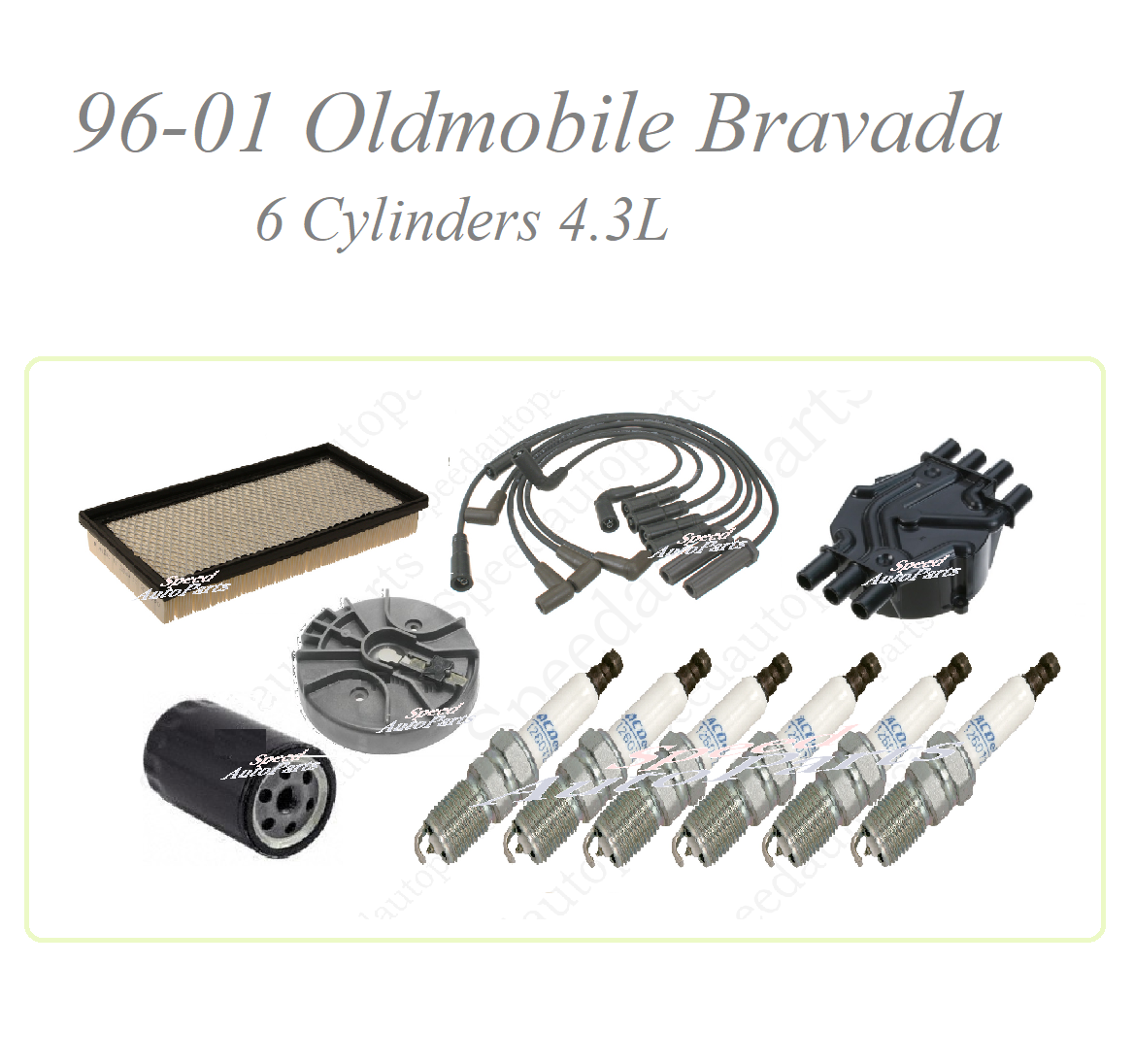 Tune Up For 96-01 Oldmobile Bravada 4.3V6: Spark Plug Wire set Cap ...