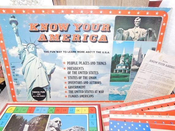 Know Your America Game 1982, Home Schooling, Learning game, Vintage Board Game, :) s*s*** -  - #America #board #game #Home #learning #Schooling #Vintage