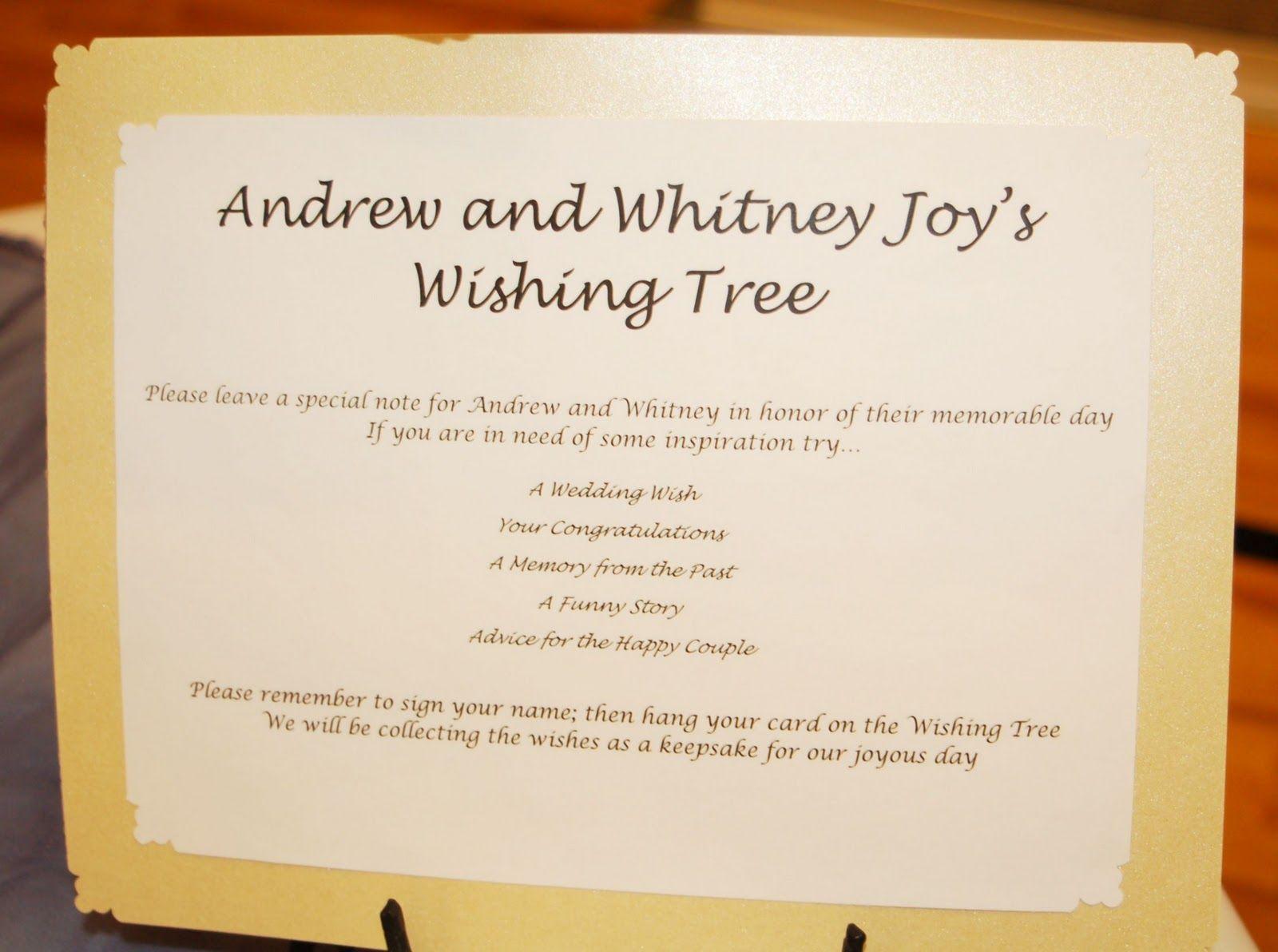 wish tree wedding tags templates Here