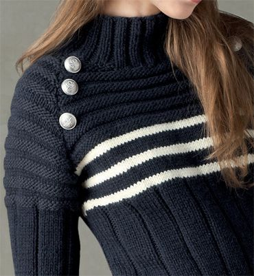 modele pull marin femme a tricoter