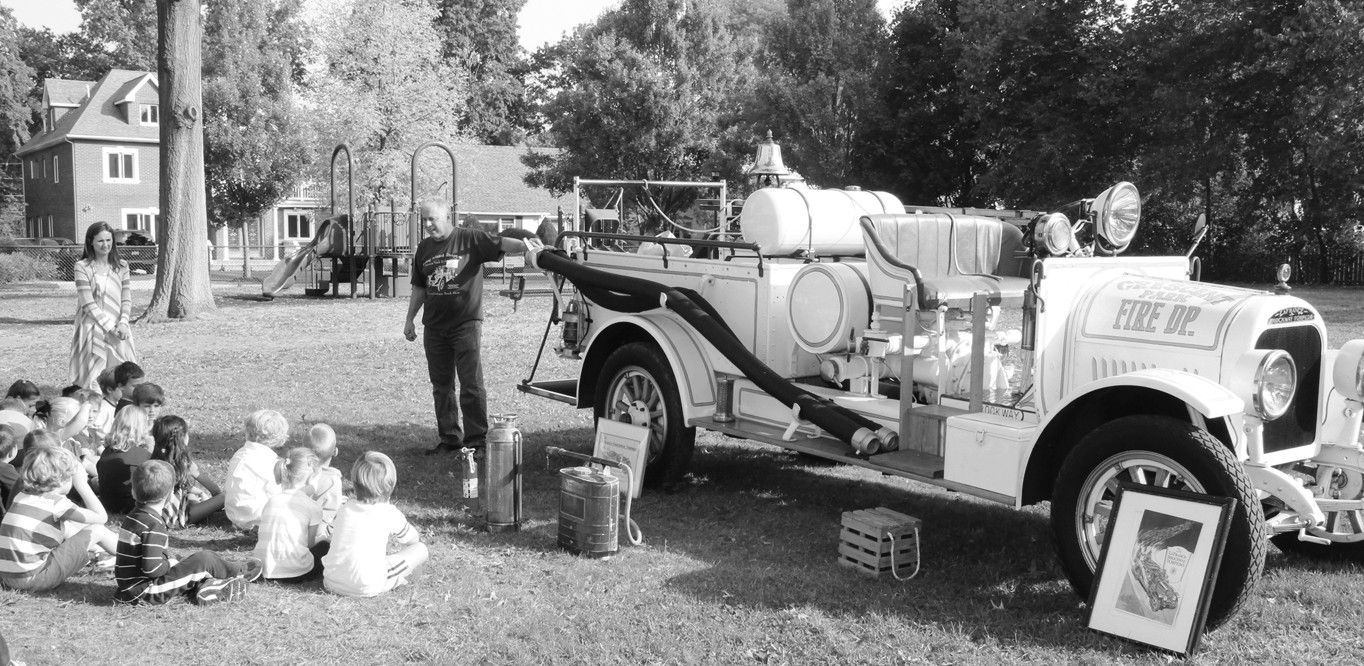 Fire Safety Month Kicks Off At Locust With Historic Pumper Truck