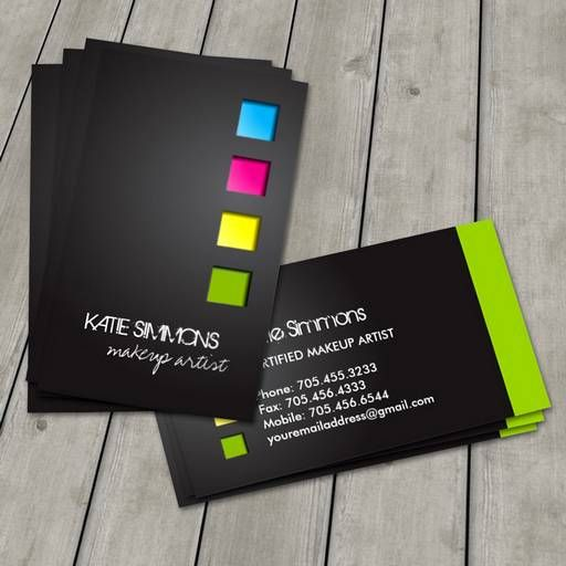Bold Makeup Artist Business Card Design Pinterest Makeup