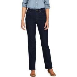 Photo of Straight Fit Öko Jeans High Waist in großen Größen – Blau – 56 32 von Lands' End Lands' EndLands' En