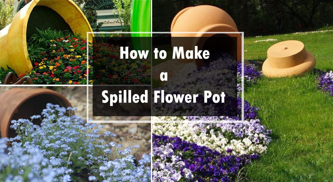 Image Result For Tipped Over Flower Pot Landscaping And