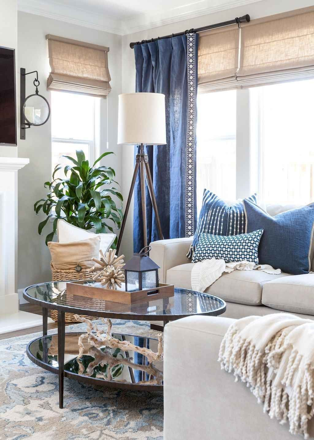 70 Cool and Clean Coastal Living Room Decorating Ideas   Living room color, Living room color ...