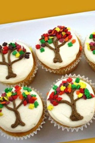Thanksgiving cupcakes baking and cooking pinterest for Decorations for thanksgiving cupcakes