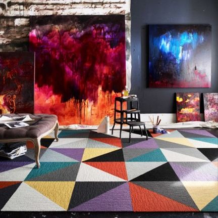 Carpet Tiles Austin Interior Design By Room Fu Knockout Interiors Carpet Tiles Geometric Pattern Rug Decor