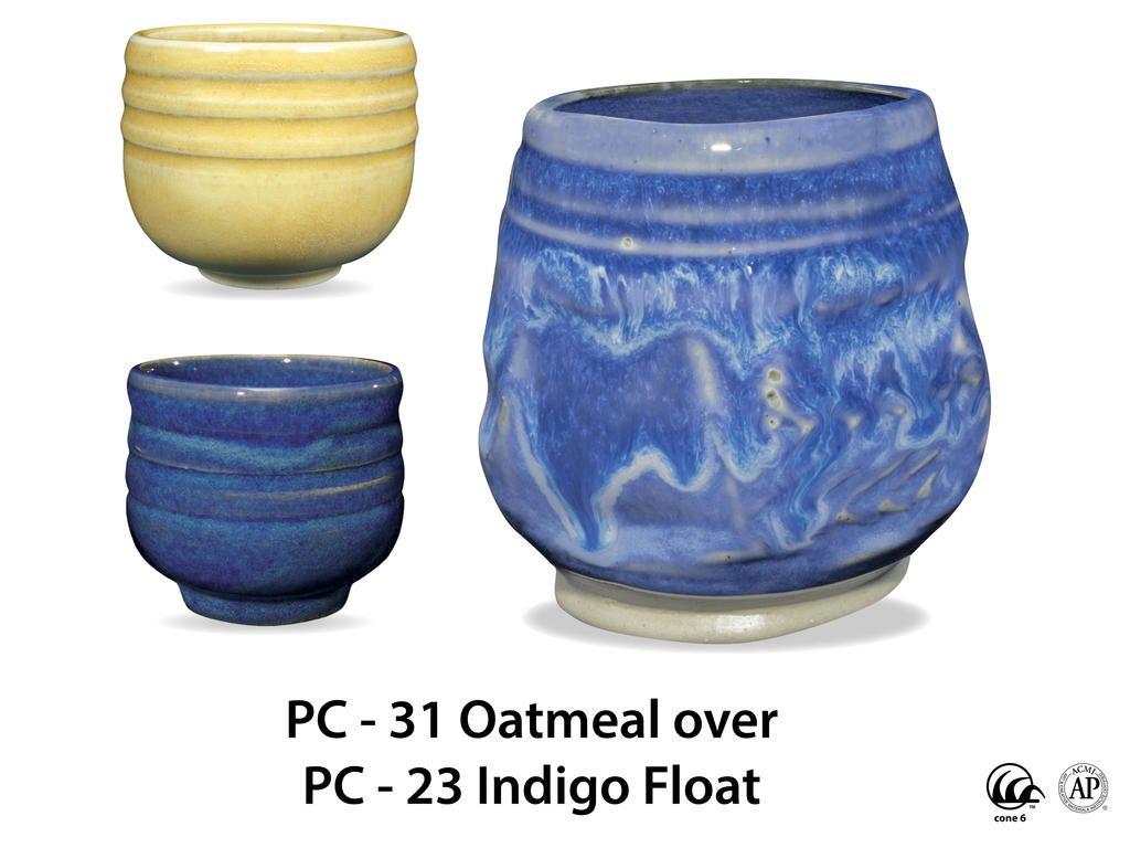 Pc 23 Indigo Float Ceramic Glaze Recipes Glazes For Pottery Amaco Glazes
