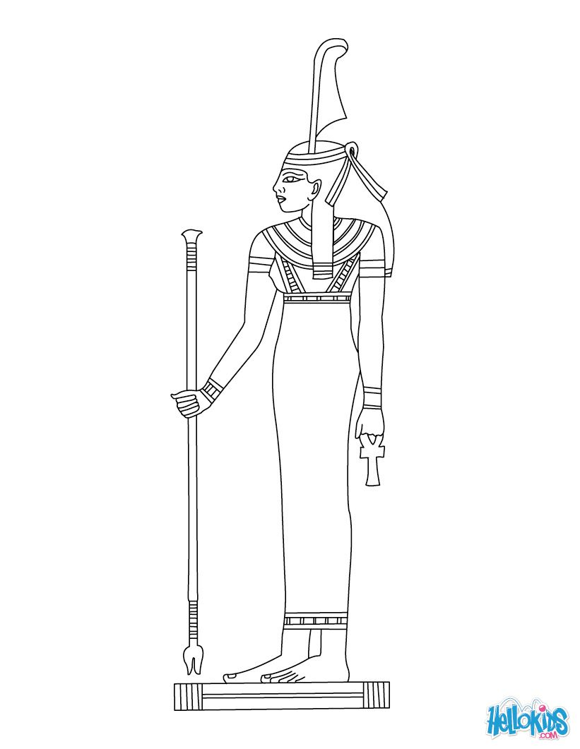 MAAT Egyptian Godess Coloring Page