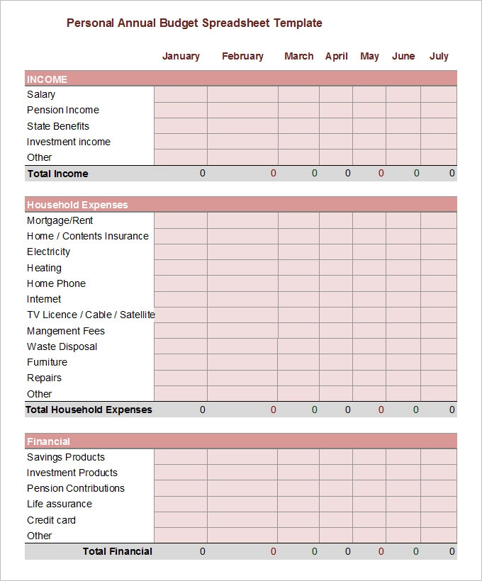 11+ Yearly Budget Templates Excel budget template