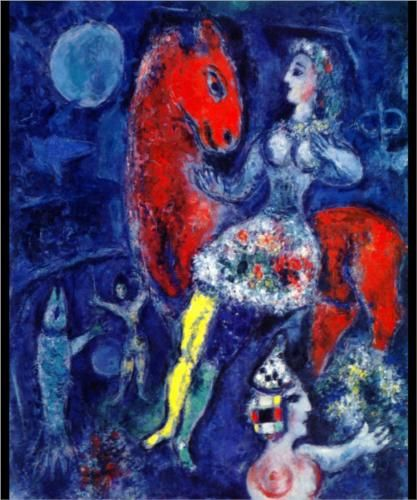 Horsewoman on Red Horse - Marc Chagall 1966