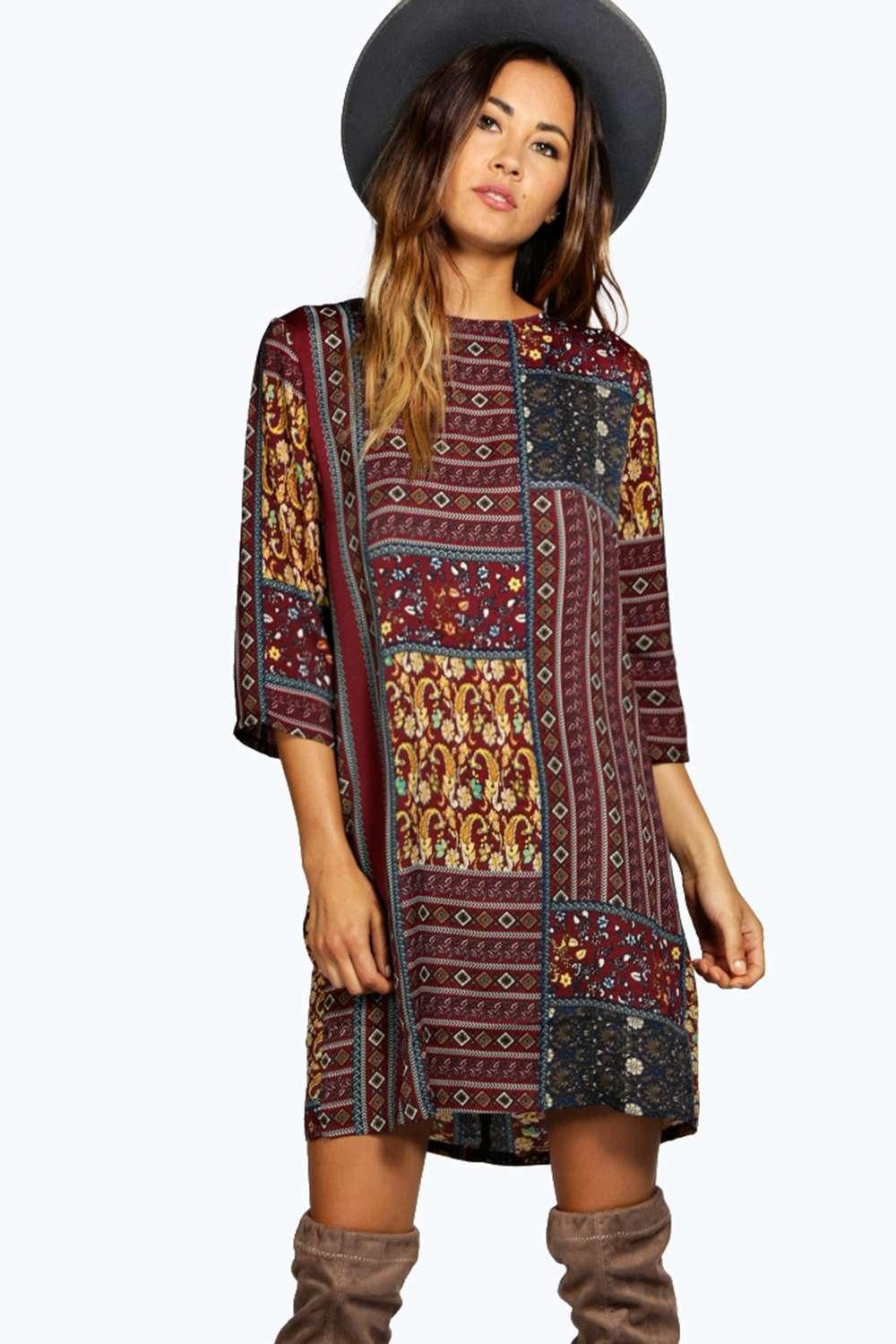 Jolie Paisley Shift Dress