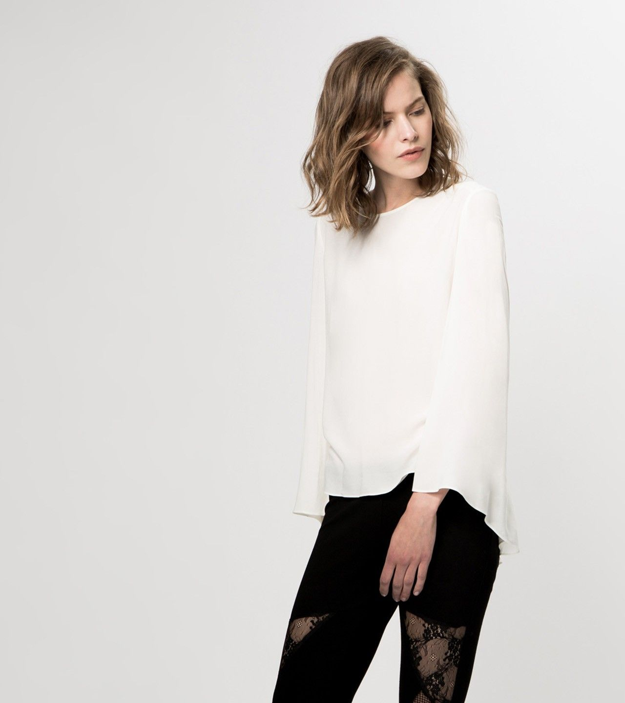 maje Groupe Bell Sleeve Top at Maje US